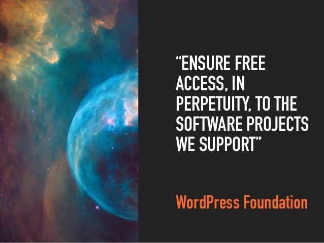 THE GPLV2 (OR LATER) FROM THE FREE SOFTWARE FOUNDATION IS THE LICENSE THAT THE WORDPRESS SOFTWARE IS UNDER. VERSION 2, JUN...