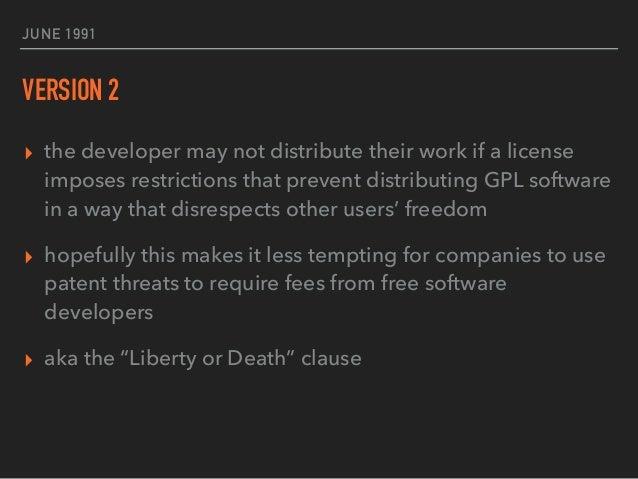 "JUNE 29, 2007 VERSION 3 ▸ disallow hardware restrictions on software modification aka ""tivoization"" ▸ addresses compatibili..."