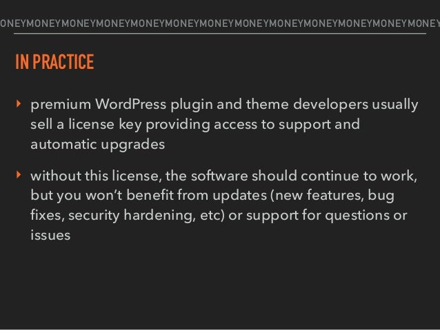 Q: Say I take a GPL theme/plugin from the WordPress theme or plugin repository, or I purchase a GPL theme or plugin from a...