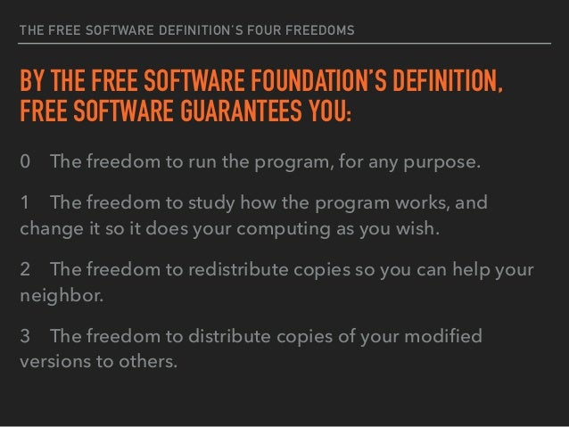 VARIETY OF FREE SOFTWARE LICENSES COMMONLY USED ▸ Apache Software License ▸ MIT License ▸ WTFPL – Do what the f*ck you wan...