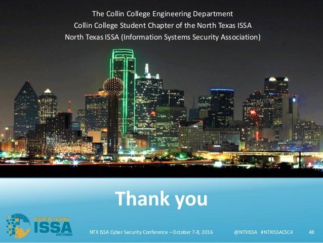 @NTXISSA#NTXISSACSC4@NTXISSA#NTXISSACSC4 The Collin College Engineering Department Collin College StudentChapterof...
