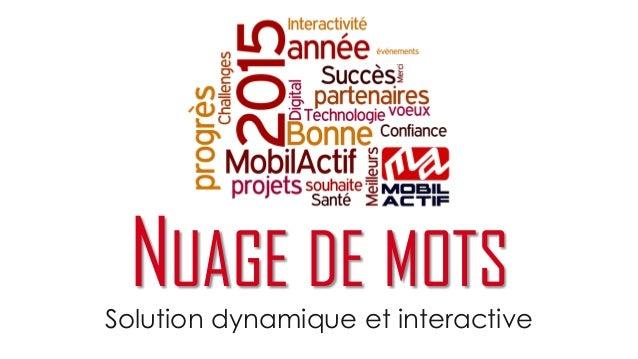 Solution dynamique et interactive NUAGE DE MOTS