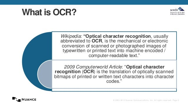 Nuance-ACEDS May 21 OCR Webcast