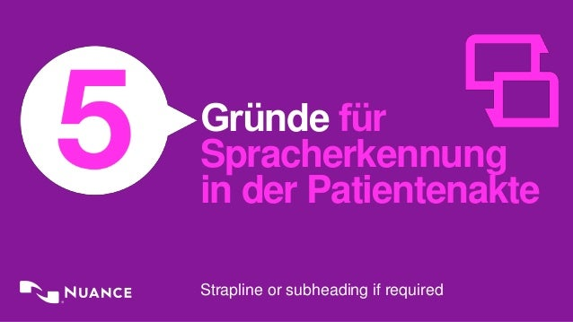 Gründe für Spracherkennung in der Patientenakte Strapline or subheading if required