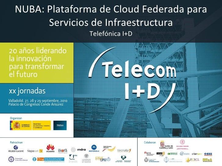 NUBA: Plataforma de Cloud Federada para Servicios de Infraestructura Telefónica I+D