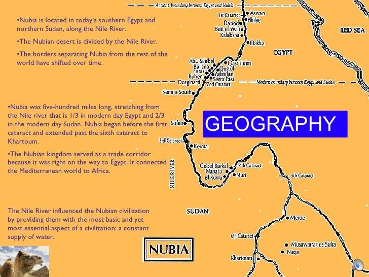 Nubia - Map of egypt nubian desert