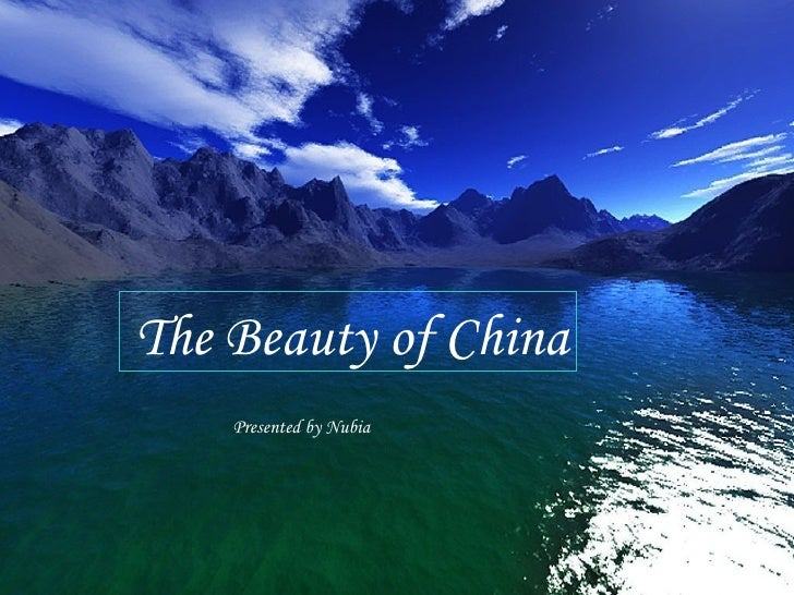 The Beauty of China Presented by Nubia