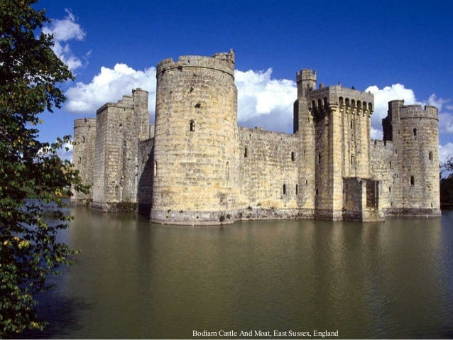 Bodiam Castle And Moat, East Sussex, England