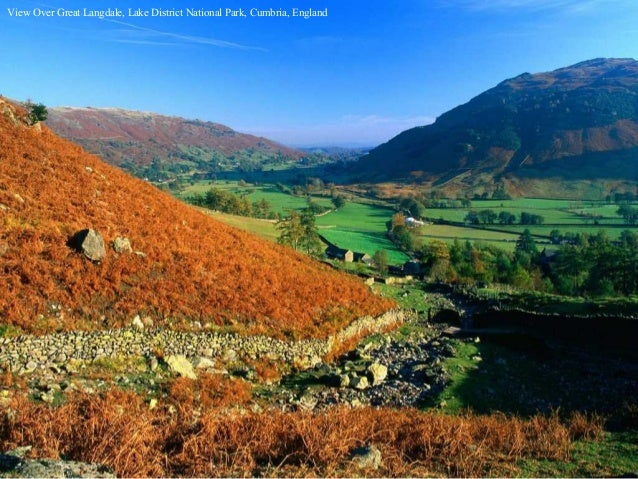 View Over Great Langdale, Lake District National Park, Cumbria, England