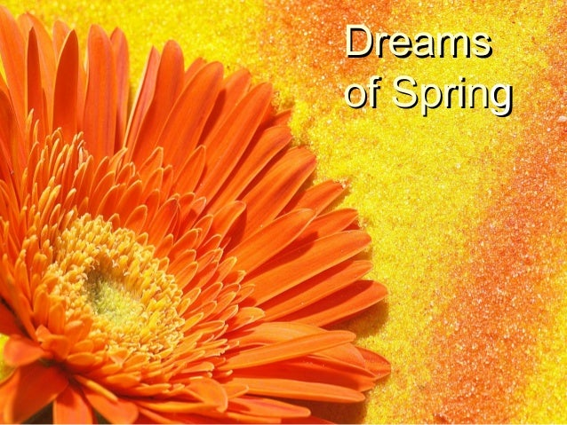 DreamsDreams of Sprinof Springg