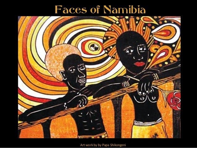Faces of Namibia Art work by by Papa Shikongeni