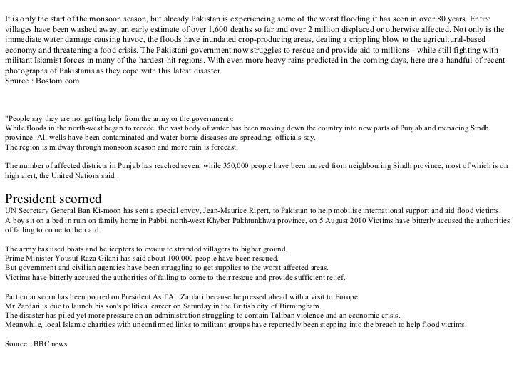 Flood in Pakistan 2010 - part 1  Slide 3