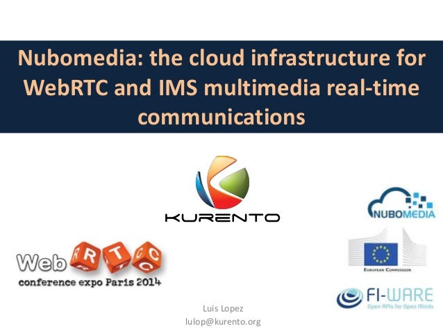 Nubomedia: the cloud infrastructure for WebRTC and IMS multimedia real-time communications Luis Lopez lulop@kurento.org