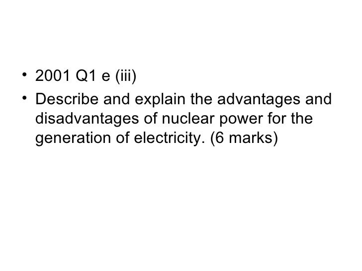 Advantages and disadvantages of nuclear energy essay