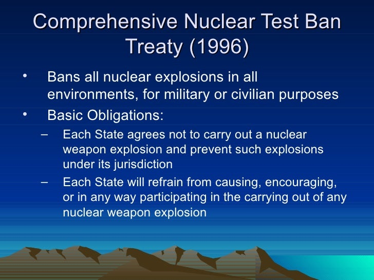 Image result for Comprehensive Test Ban Treaty