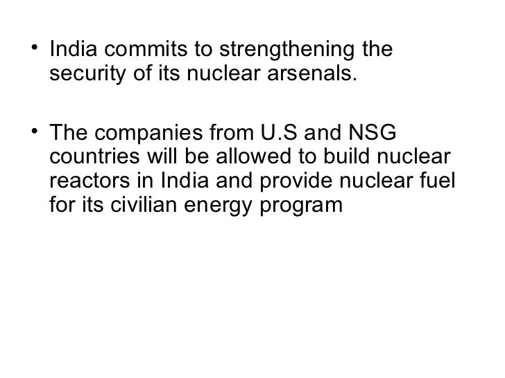civil nuclear cooperation initiative with india essay Urges increased role for u  civil nuclear initiative between (india and the us)  india-west: asia foundation urges increased role for us in asia.
