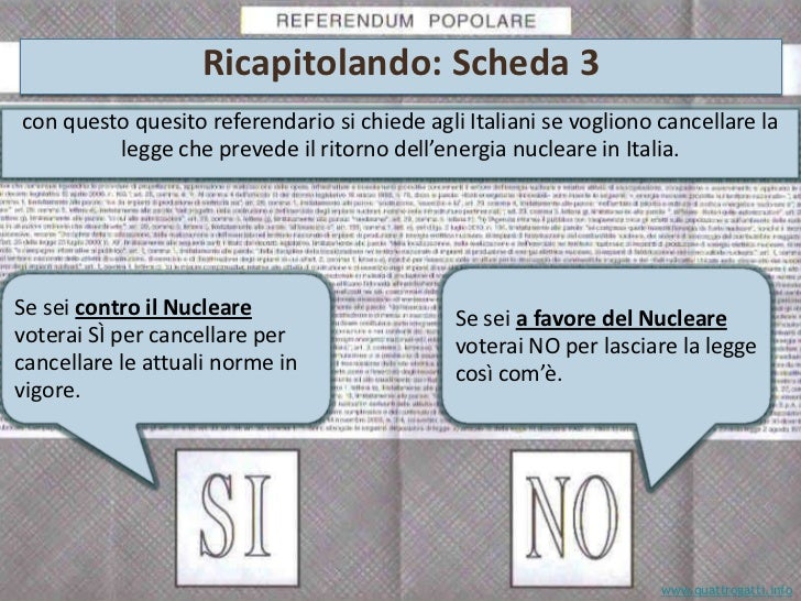 Referendum n. 3 sul nucleare – Giugno 2011<br />5. Il nucleare costa poco?<br />CONTRO:<br />Il costo delle centrali è fre...