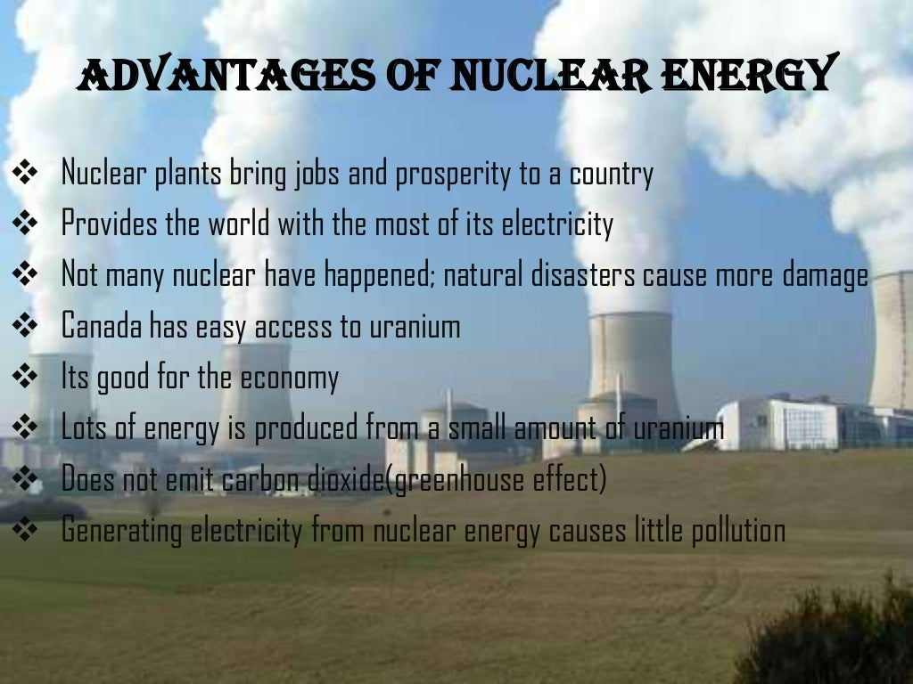 the economic advantages of nuclear energy