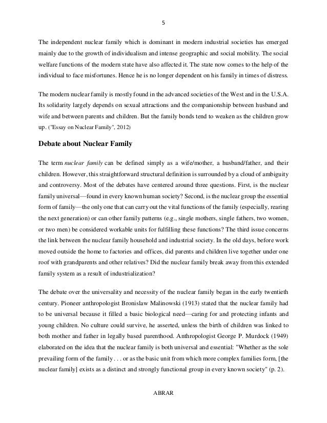 essay about nuclear family and extended family Extracts from this document introduction has the extended family been replaced by the isolated nuclear family isaac gondwe access to the city college of bristol.