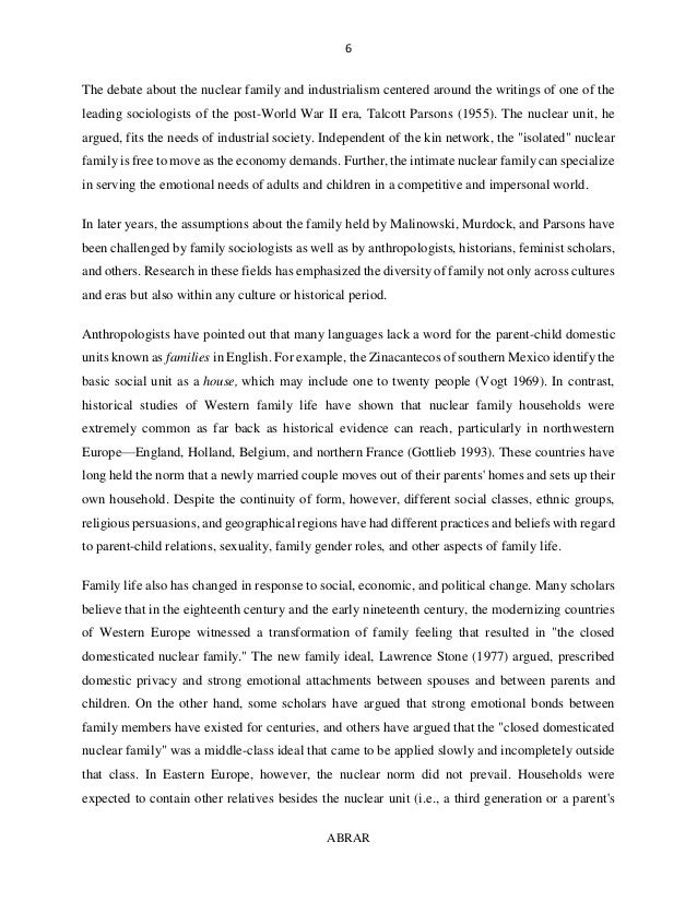 essay on importance of nuclear family  u2013 izasikero