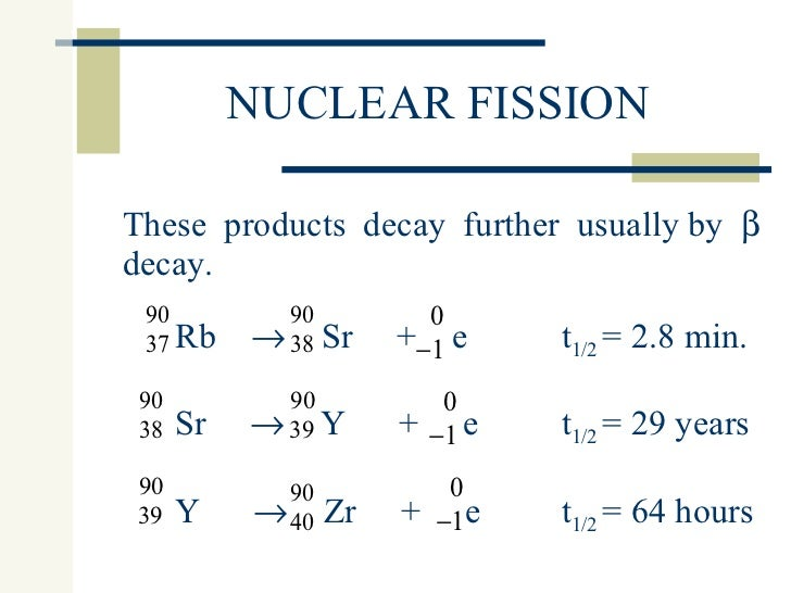 Nuclear fission & fusion 07
