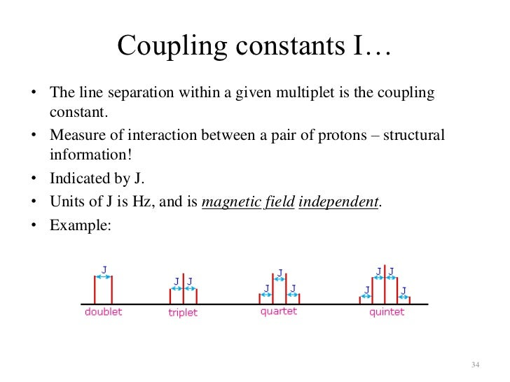 Proton Nmr Spectrum Coupling Constants Nmr Spin Coupling