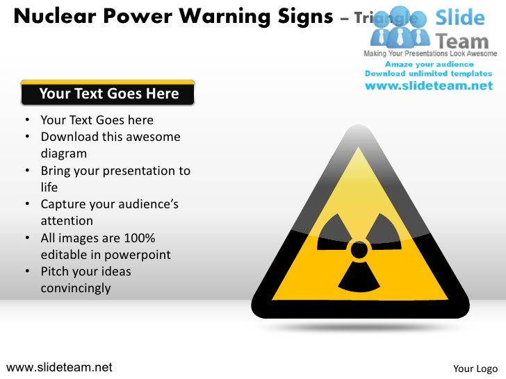 Nuclear Power Warning Signs Triangle Powerpoint Ppt Slides