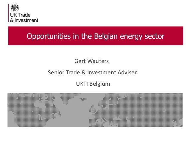 Opportunities in the Belgian energy sector Gert Wauters Senior Trade & Investment Adviser  UKTI Belgium