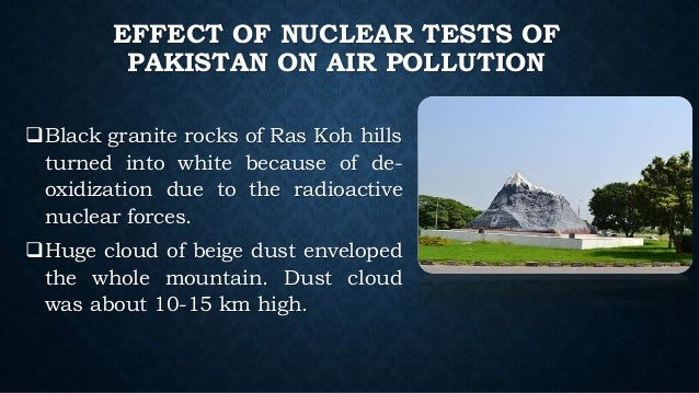 Nuclear Test And Air Pollution In Pakistan