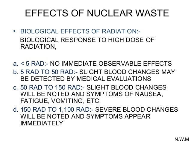 Somatic effects of radiation