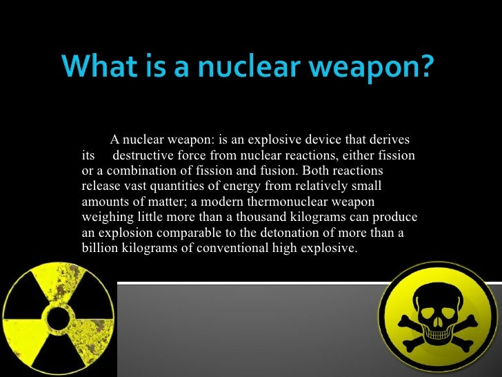 threat of nuclear weapons essay To what extent do nuclear weapons pose a threat to world safety nuclear power is a milestone to the whole human civilization and it has brought large wealth to us.