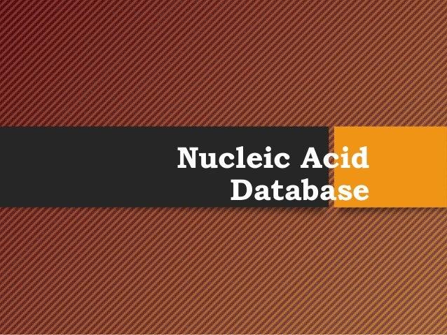 Nucleic Acid Database