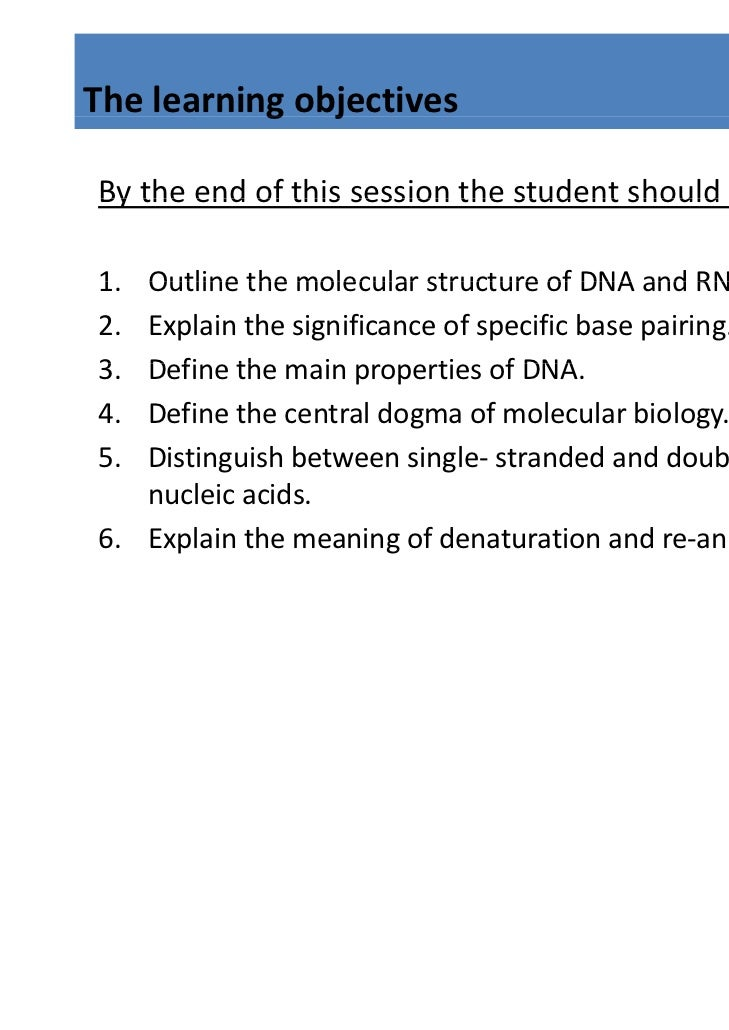 Nucleic Acid Structure and Function: Working with Models (Day 1 of 5)