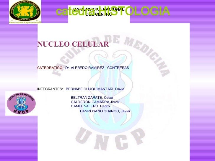 <ul><li> </li></ul><ul><li>FACULTAD DE MEDICINA HUMANA </li></ul><ul><li> </li></ul>UNIVERSIDAD NACIONAL DEL CENTRO   ...