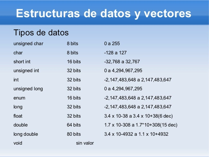 Estructuras de datos y vectores <ul><li>Tipos de datos