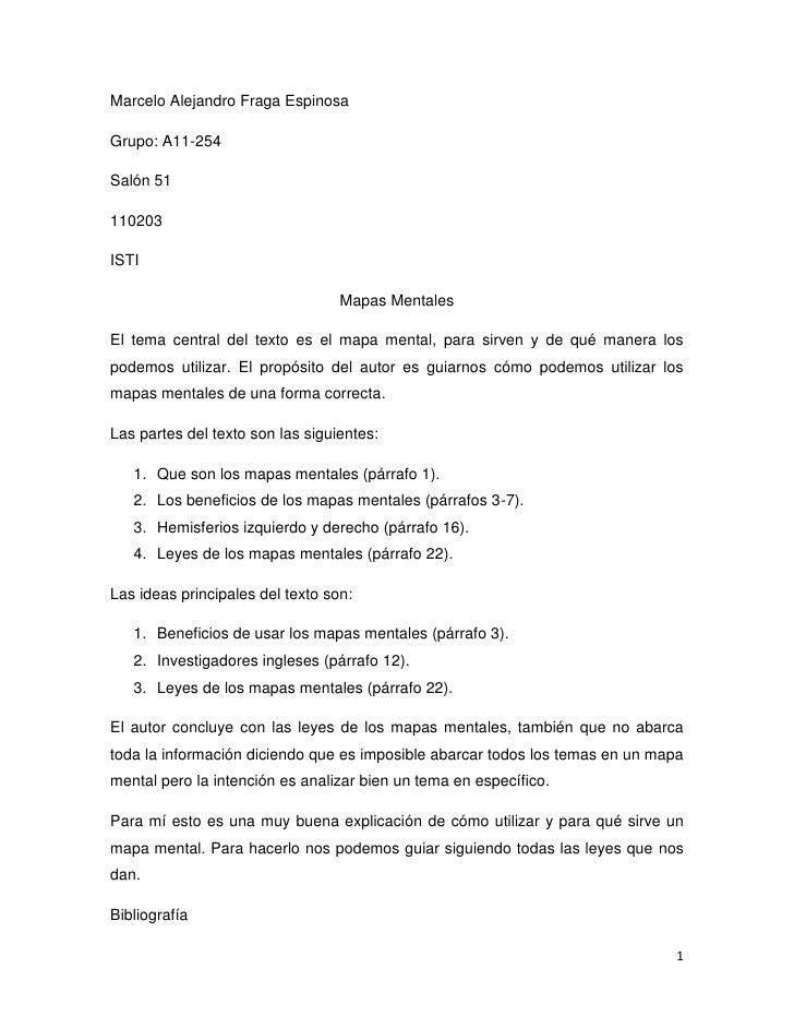 Marcelo Alejandro Fraga Espinosa<br />Grupo: A11-254<br />Salón 51 <br />110203<br />ISTI<br />Mapas Mentales<br />El tema...
