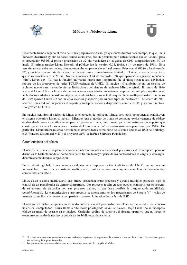 Sistemas Operativos – Redes y Telecomunicaciones – I.T.U.                                                                 ...
