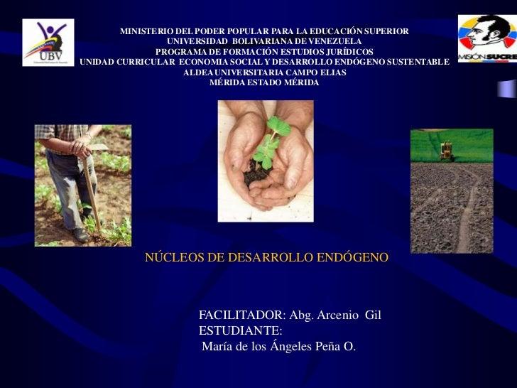 MINISTERIO DEL PODER POPULAR PARA LA EDUCACIÓN SUPERIOR                 UNIVERSIDAD BOLIVARIANA DE VENEZUELA              ...