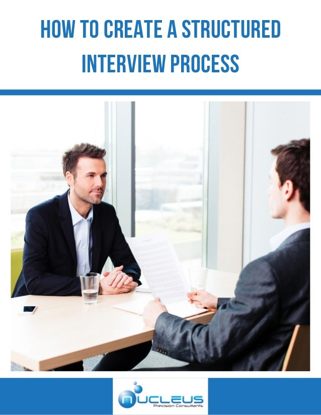 HOW TO CREATE A STRUCTURED INTERVIEW PROCESS