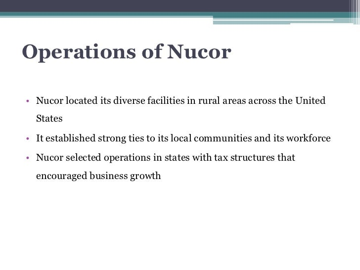 case study on nucor corporation Nucor corporation case study this case study nucor corporation case study and other 64,000+ term papers, college essay examples and free essays are available now on.