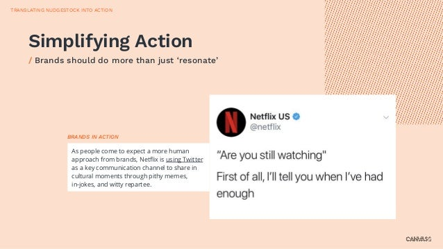 Simplifying Action / Brands should do more than just 'resonate' TRANSLATING NUDGESTOCK INTO ACTION As people come to expec...