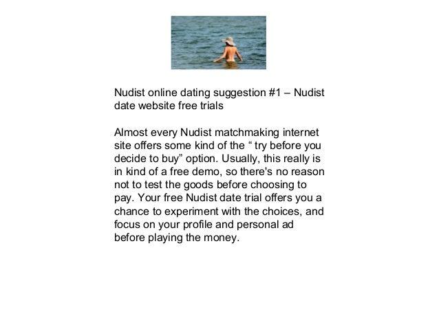 online dating tips nudist dating