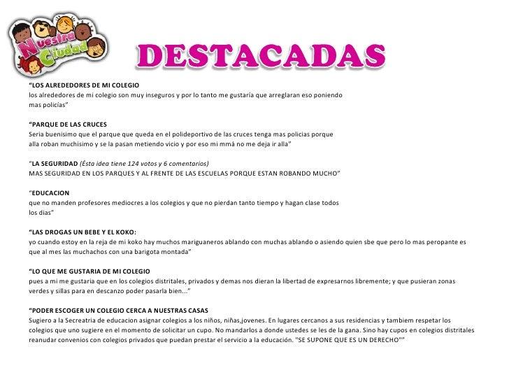Resultados: Ideas para Bogotá