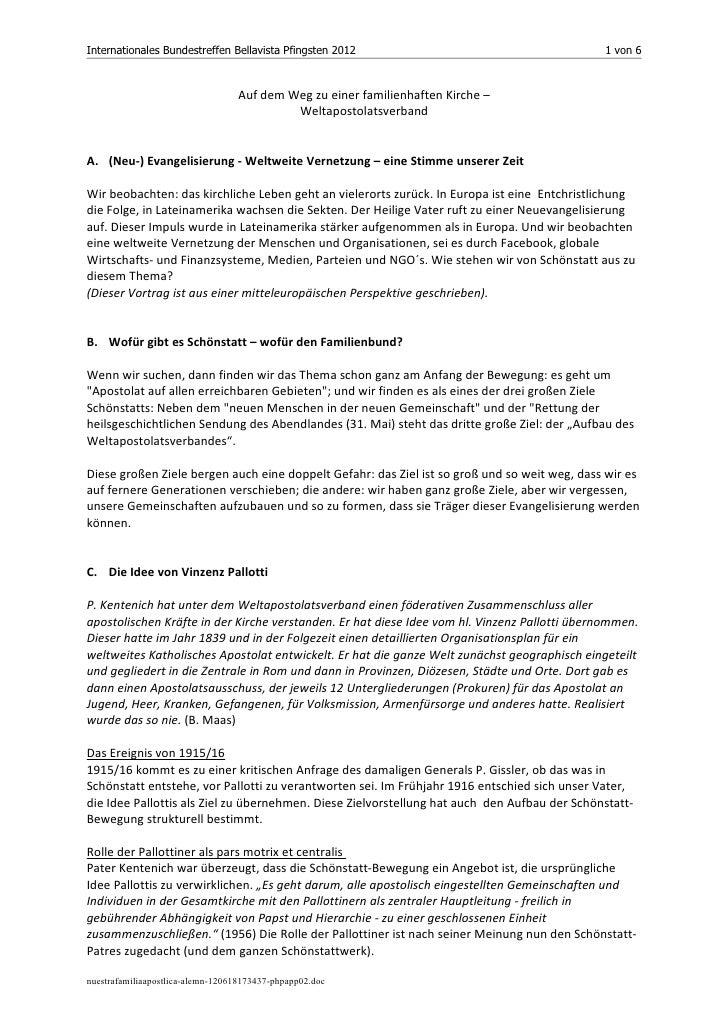 Internationales Bundestreffen Bellavista Pfingsten 2012                                       1 von 6                     ...