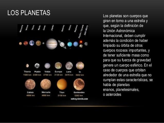 Nuestra galaxia - Caracteristicas de los planetas interiores ...