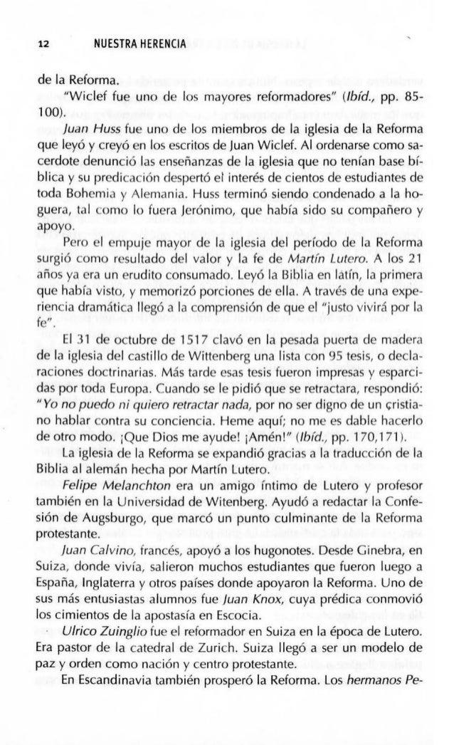 LA IGLESIA DE DIOS ATRAV~S DE LAS EDADES 15 de persecución y martirio. Los reformadores creían en las profecías que hablan...