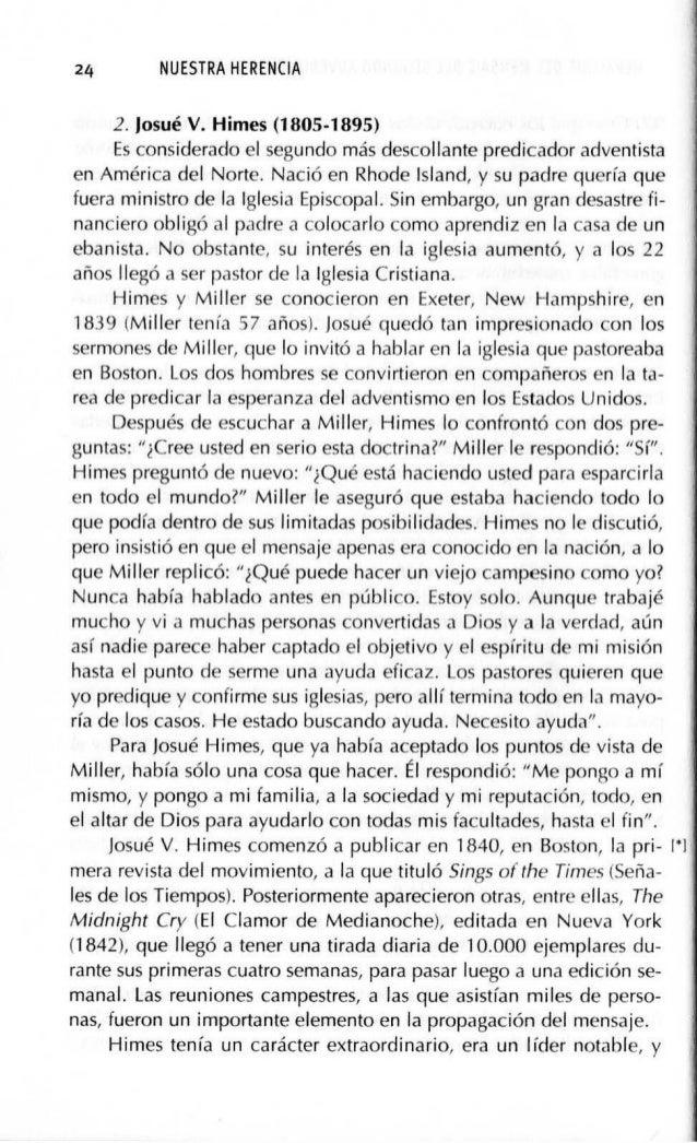 HERALDOS DEL MENSAJE DEL SEGUNDO ADVENIMIENTO (1755-181¡3) 27 ,J sus líderes de más de mil conversos en tres meses de pred...
