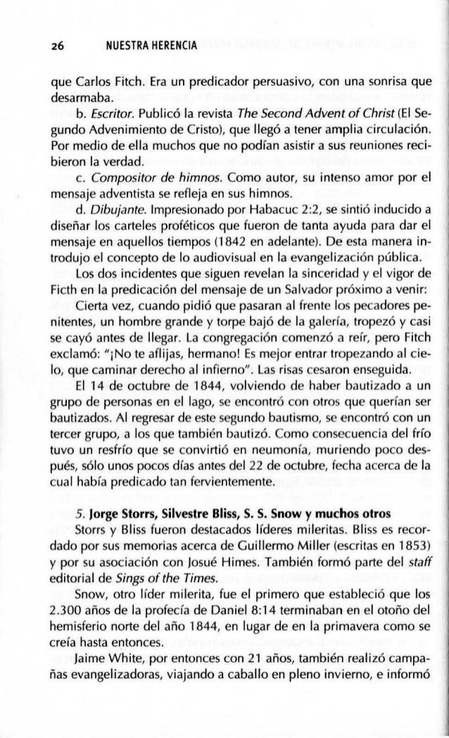 HERALDOS DEL MENSAJE DEL SEGUNDO ADVENIMIENTO (1755-1843) 29 5. Robfrto Winter Escuchó el mensaje del segundo advenimiento...