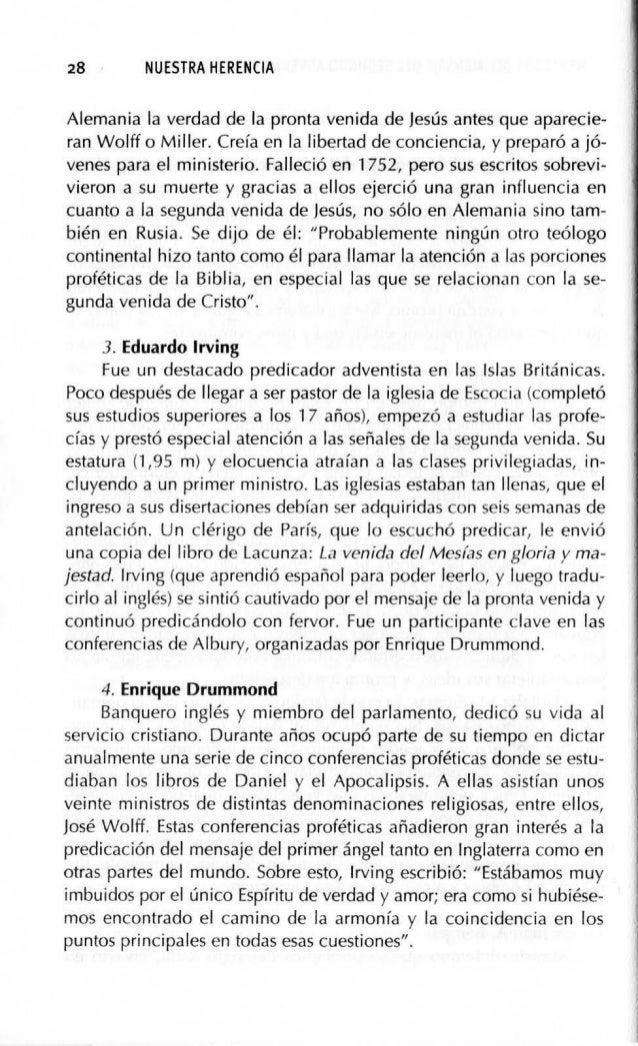 HERALDOS DEL MENSAJE DEL SEGUNDO ADVENIMIENTO (1755-1843) 31 conferencias por cientos, algunos incluso de países extranjer...