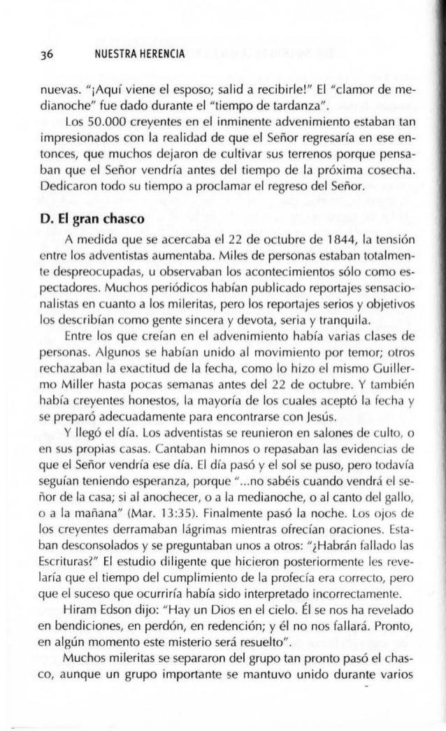 SURGIMIENTO DE LA IGLESIA REMANENTE (1844-1852) 39 opinión, y en pocos días casi todo el grupo de cuarenta miembros llegó ...